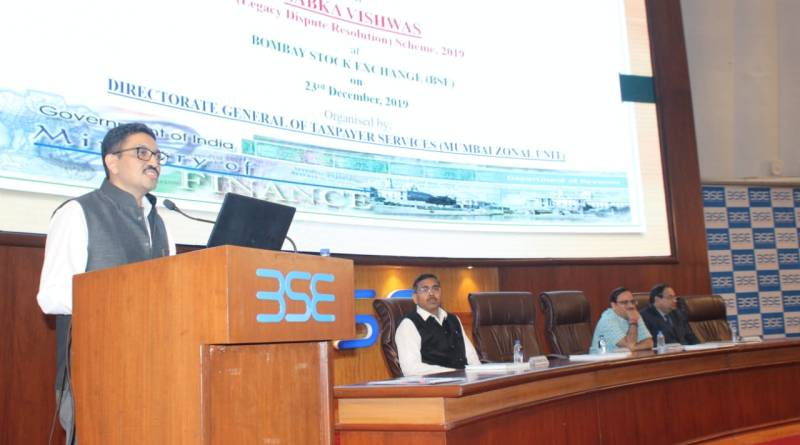 CBIC addresses BSE members on Sabka Vishwas Scheme; Dispute resolution open till Dec 31
