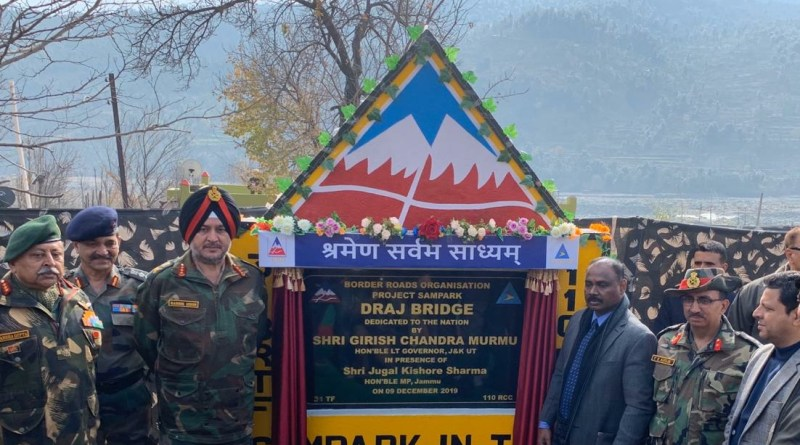 J&K Lt Gov inaugurates strategic BRO Draj bridge to speed Army movement