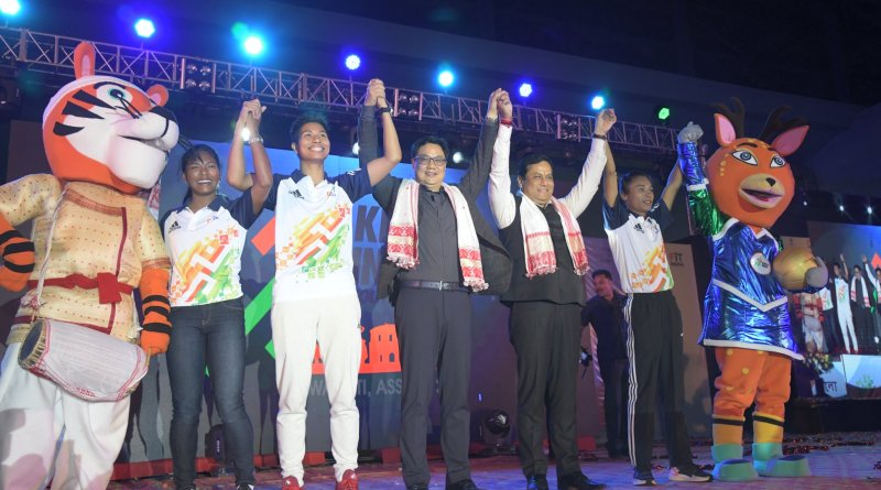 Khelo India Youth Games 2019 logo, mascot & jersey launched by Assam CM & MoS Sports