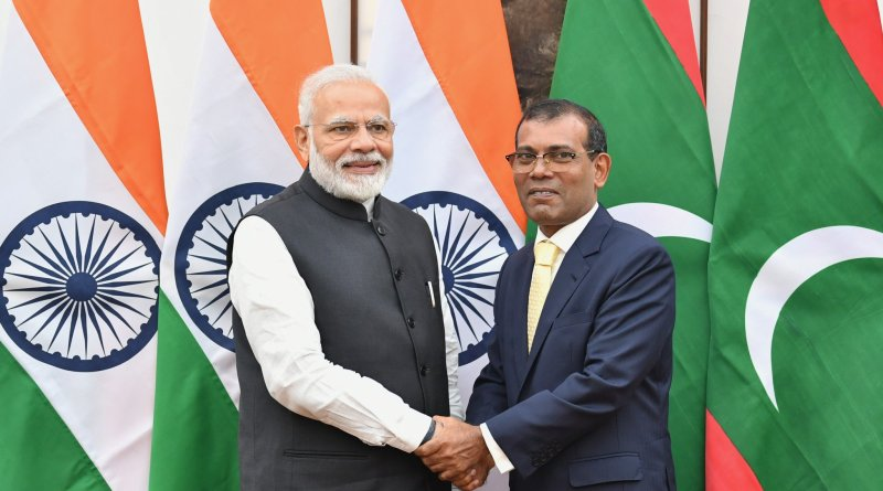 Prime Minister Modi meets Mohd Nasheed, Speaker of People's Majlis of Maldives