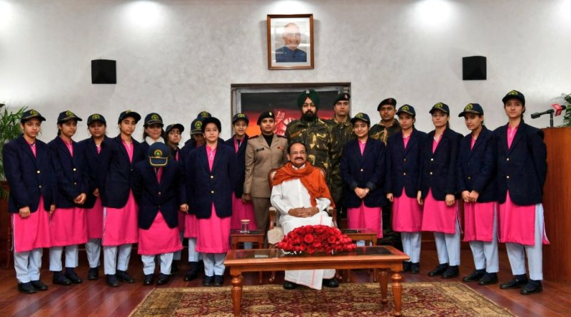 VP Naidu meets J&K girl students; Talks Pakistan, terrorism and discrimination