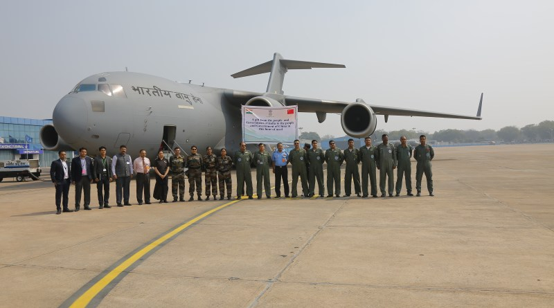 Coronavirus: India sends IAF's goodwill flight to China for COVID-19 aid