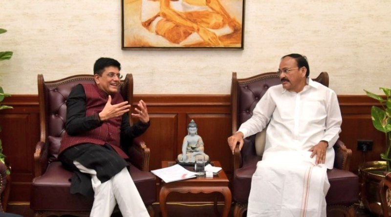 Expedite all Andhra, Telangana projects: VP Naidu to Commerce Minister Piyush Goyal