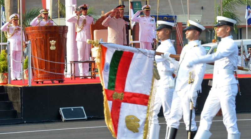 Kovind awards President's Colour, highest military honour, to INS Shivaji