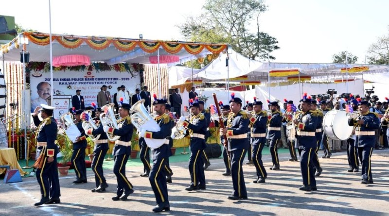 Martial music arouses valour in armed forces: VP Naidu at Police Band Competition