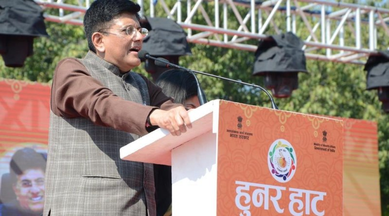 Must work on mission mode to promote handicrafts: Piyush Goel at Delhi 'Hunar Haat'