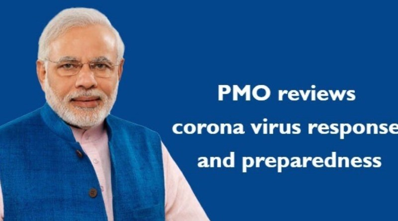 Coronavirus PMO reviews COVID 19 with Health Tourism Aviation Home Defence Ministries | Indus Dictum