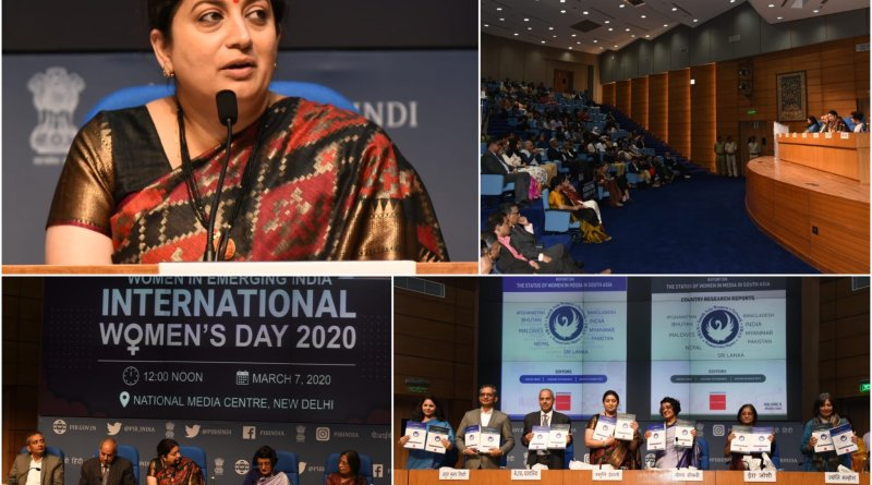 Report on women's status in South Asian Press & Media released by WCD Minister Smriti Irani