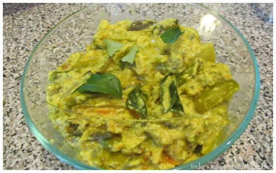 Mixed vegetables in coconut sauce (Avial)