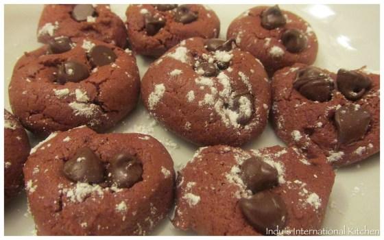 Beet red velvet Cookies