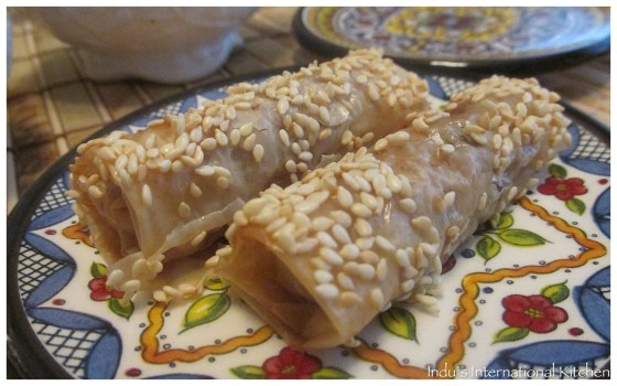 Almond and date pastry