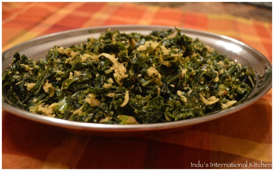 Kale with coconut