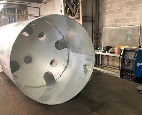 Aluminum fuel tank baffle repair