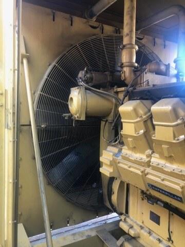 Caterpillar generator radiator repair