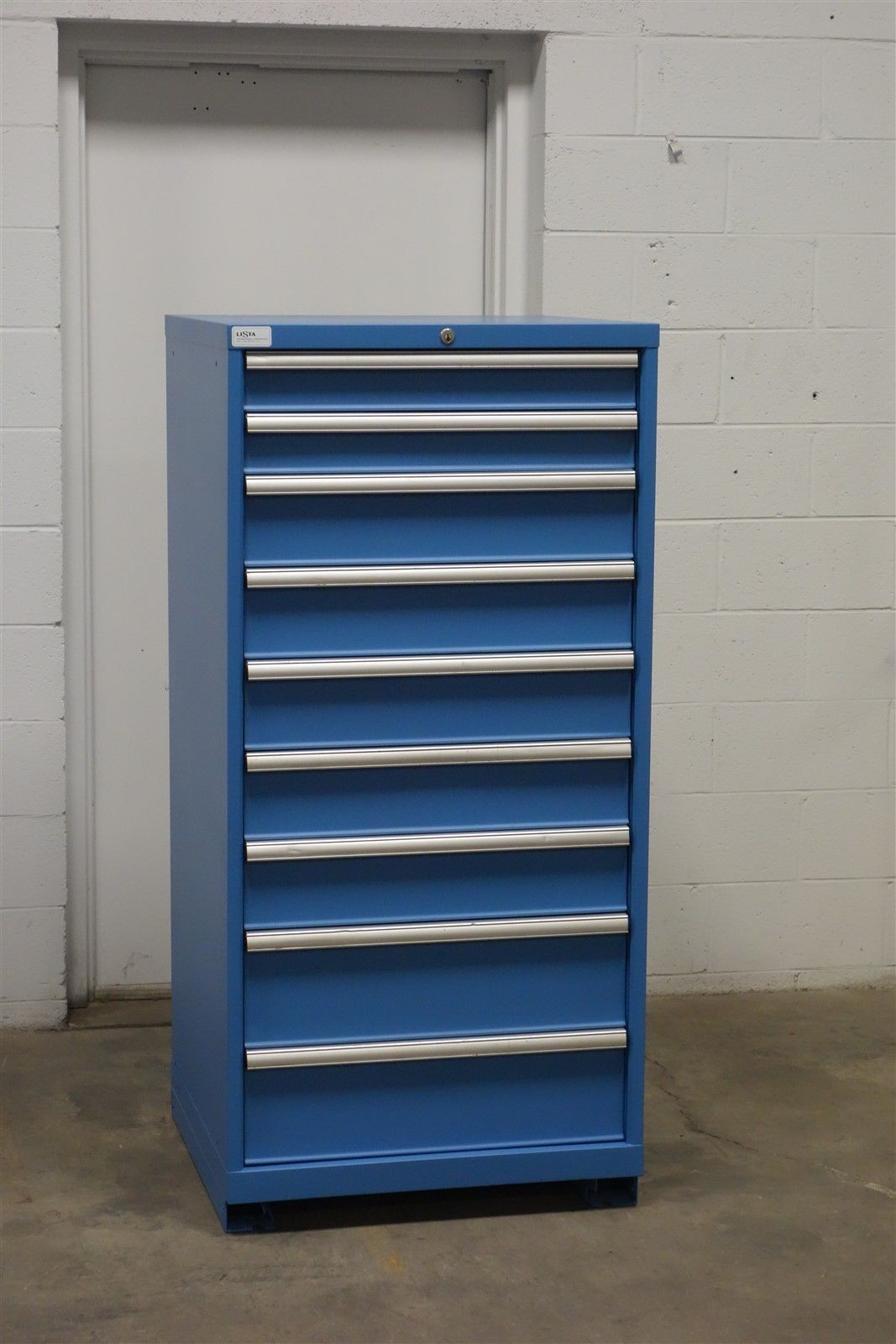 Used Lista 9 Drawer Cabinet Industrial Tool Storage Bin