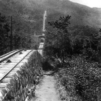 Peak Tramway soon after completion c1890 HK Museum of History/Provisional Urban Council