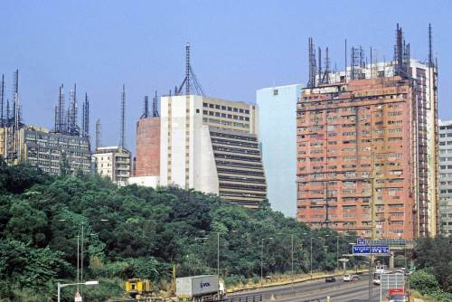 Hong Kong-Kowloon-Kwai Chung-Factory chimneys-6