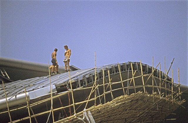 Hong Kong-Wanchai-Convention & Exhibition Centre-011-Roof Construction-1997