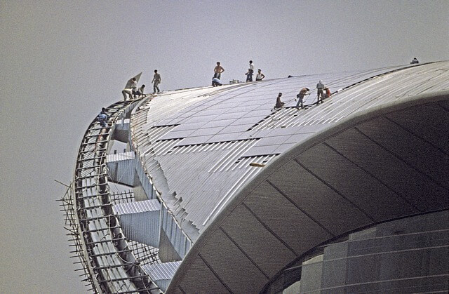 Hong Kong-Wanchai-Convention & Exhibition Centre-025-Roof Construction-1997