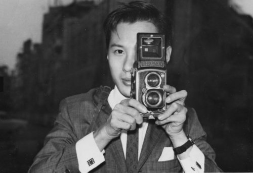 Ho Fan Image Of The Man, With His Rolleiflex 3.5A (type 4KA) Camera