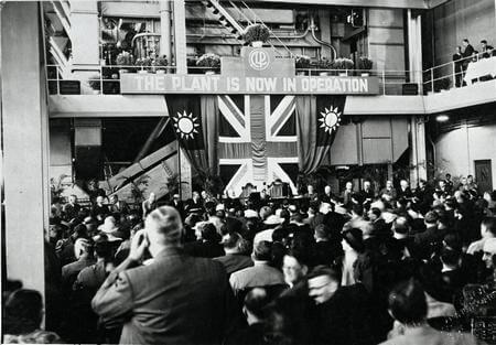 The opening of Hok Un 'A' Power Station, 1940
