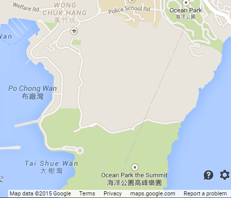 Ocean Park google snipped map