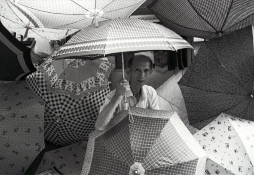 Ho Hung Yee umbrella Peel Street snipped photo SCMP 26.7.15
