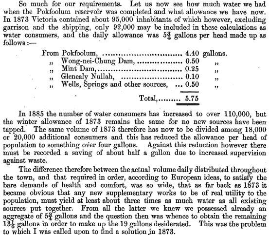 Surveyor General's Report on the Tytam Water-works 1885 g