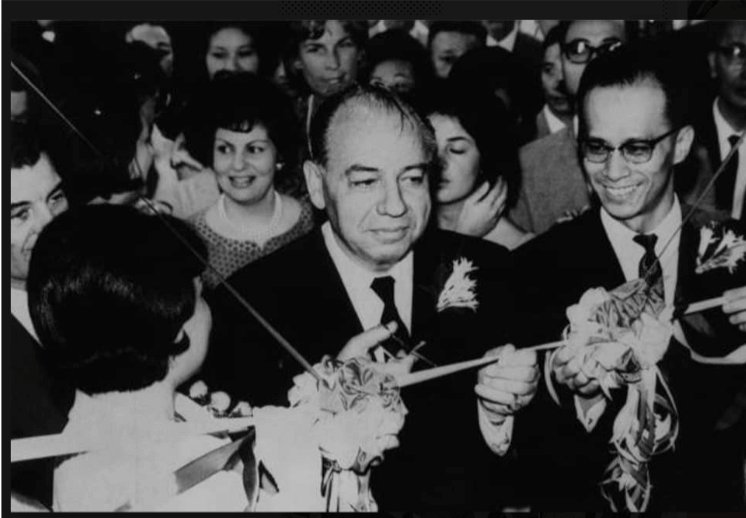 Nicholas Marsh, Cutting Ribbon At Opening Ceremony Of Cheung KOng Building 1964 From York Lo