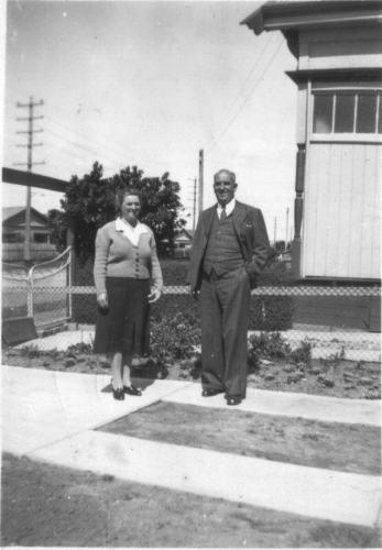 Joe MacDonald with Lizzie outside residence