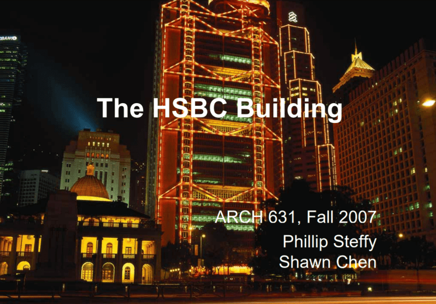 HSBC Building Steffy & Chan Image 1 Title Page