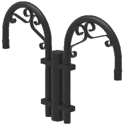Architectural, Decorative Arms for Area Lighting Fixtures