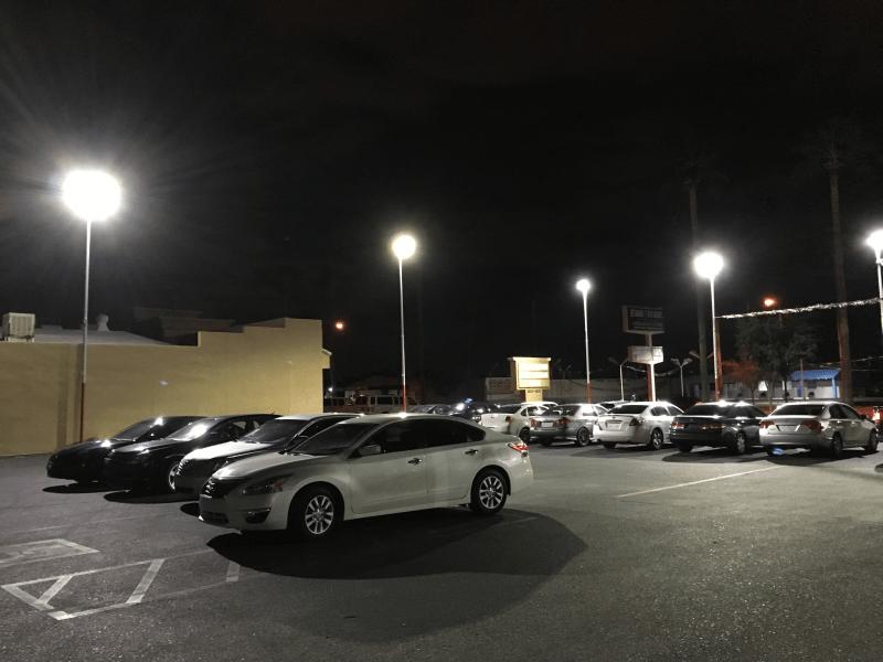 LED Parking Lot Lights & LED Parking Lot Lights LED Shoebox Parking Lot Area Lighting Post ...