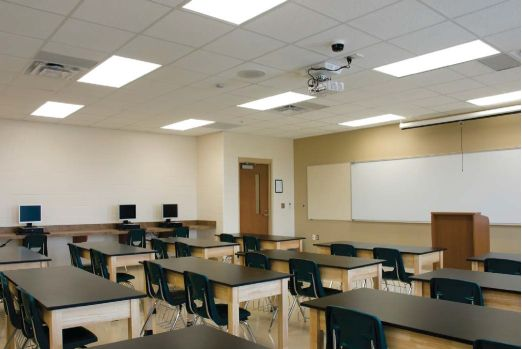 LED T8 for classroom lighting