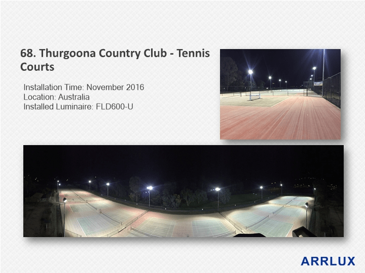 LED Sports Lighting Fixtures by Arrlux - Outdoor Tenniis Court Lighting
