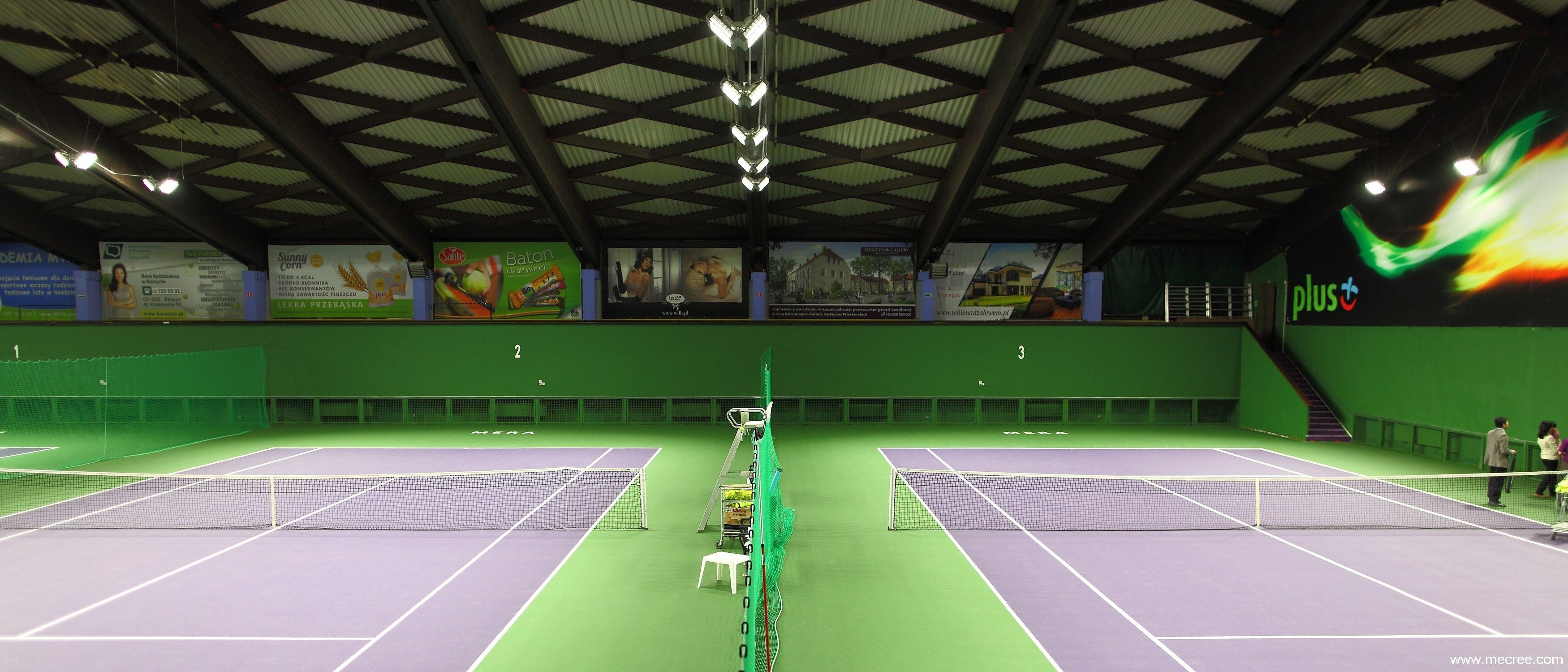 National Tennis Training Center of Poland, 42 pcs, Mecree GL-FL-600W