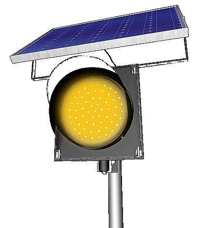 solar flashing traffic beacon sm