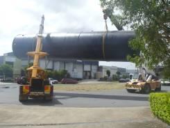 Large PE Tank Loading
