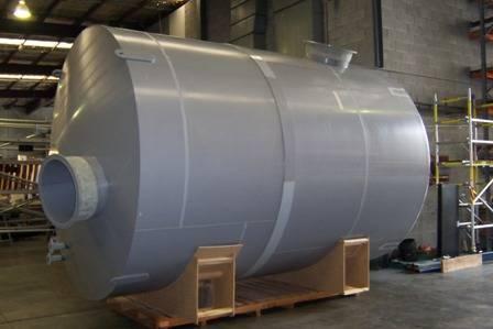PVC-u Tank prior to GRP Lamination