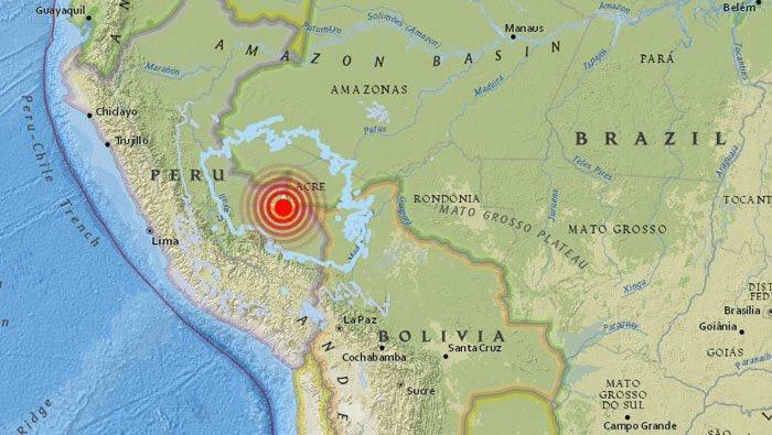 Sismo de magnitud 7.1 sacude Perú; no se reportan daños ni heridos