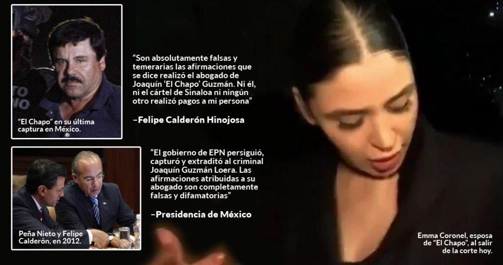 Abogado del Chapo dice que se dio sobornos a expresidentes