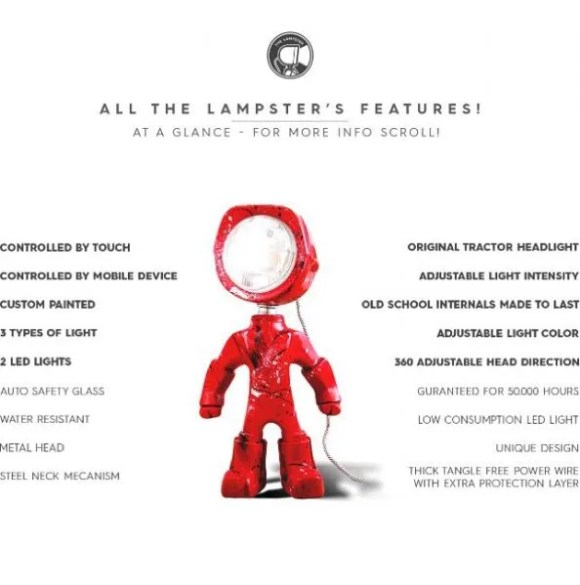 The Lampster specificaties