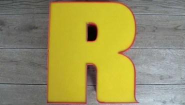 Vintage Reclame letterlampen