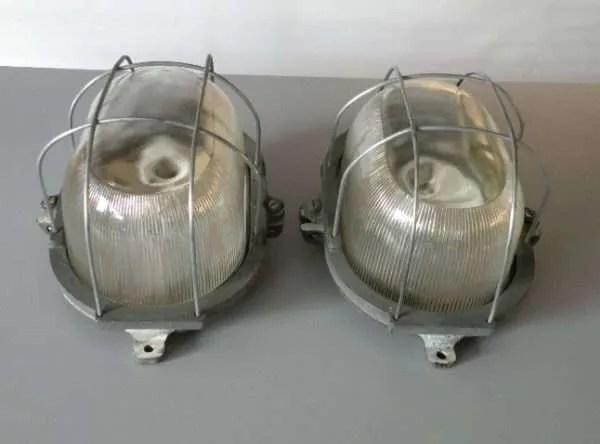 Bunkerlamp twee vintage