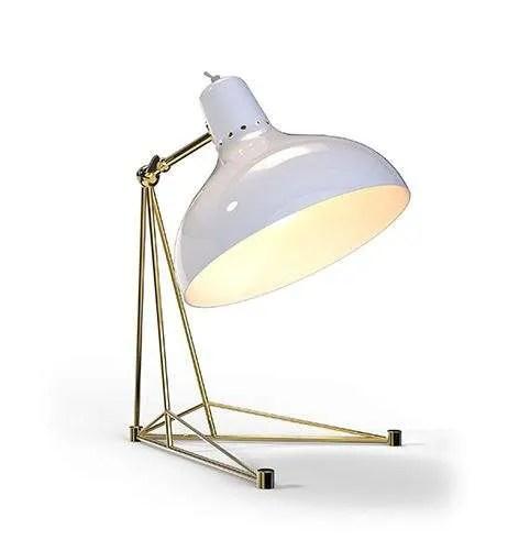 Delightfull Diana tafellamp wit goud