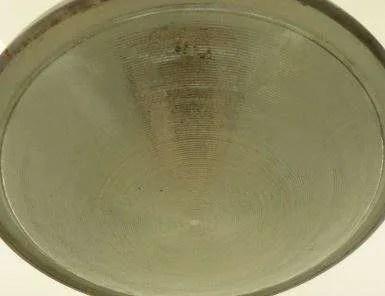 Groen geëmailleerde hanglamp detail 2