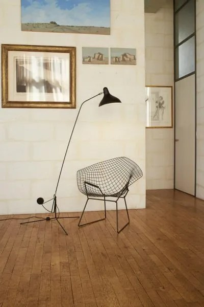 Mantis BS1 floorlamp Zwart-satijn in situ 3