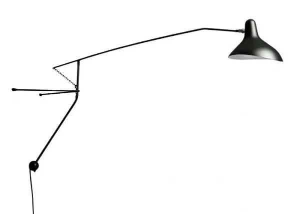 Mantis BS2 wandlamp Zwart-satijn