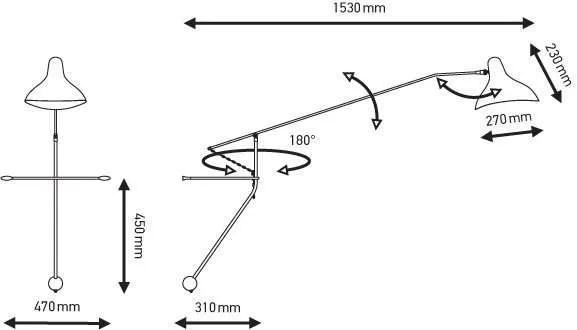 Mantis BS2 wandlamp specificatie