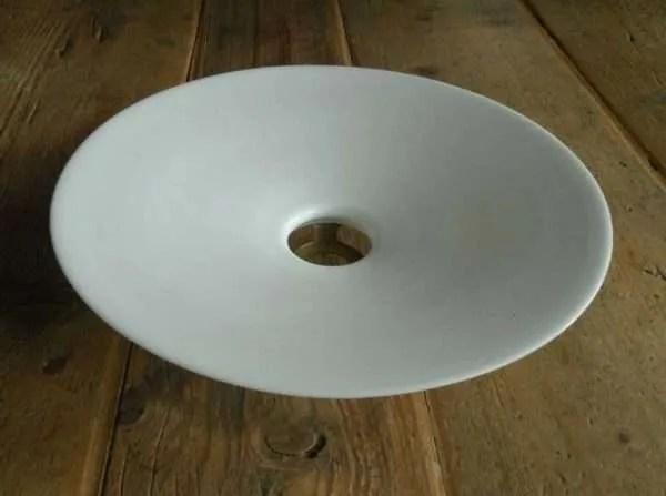 Opaline hanglamp binnenkant